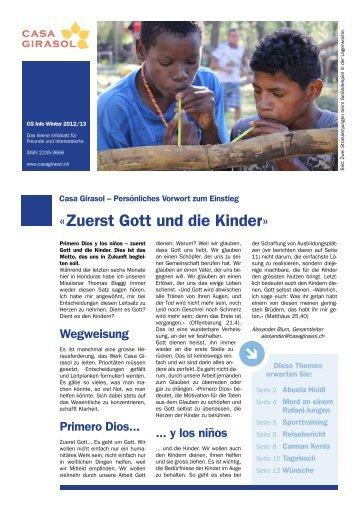 Infoblatt des Kinderhilfswerks Casa Girasol in Mittelamerika - November 2012