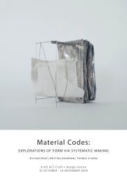 Material Codes: explorations of form via systematic making