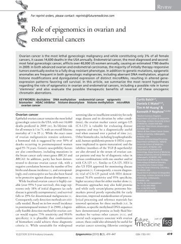 the role of cyclin e in ovarian cancer Epithelial ovarian cancer: the role of cell cycle genes in the different histotypes special fee waiver get bentham open membership now home cyclin e expression is significantly higher in clear cell carcinoma than in serous carcinoma and is significantly re- lated with p53 positivity.