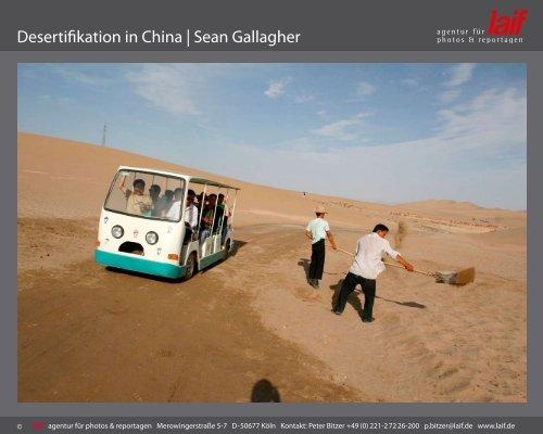 Desertifikation in China   Sean Gallagher - laif agentur für photos ...