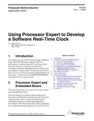 Using Processor Expert to Develop a Software Real ... - Freescale