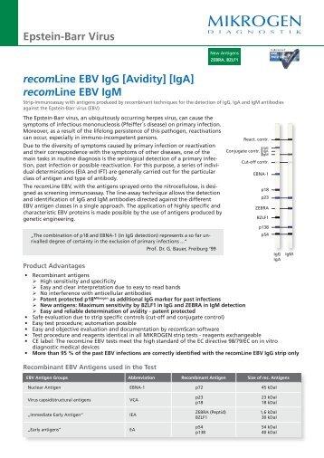 recomLine EBV IgG [Avidity] [IgA] recomLine EBV IgM ... - Mikrogen
