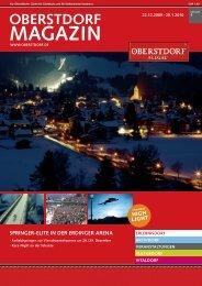 Kartenvorverkauf: Tourist-Info Oberstdorf 08322/700 290