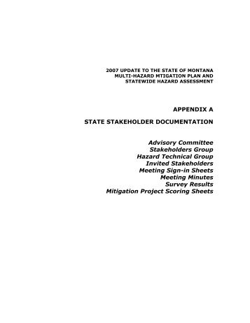 Appendix a state stakeholder documentation - Department of Military ...