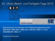 Vergleichsberechnung DIN 1045-1:2008 bzw. DIN EN 1992 ... - Baubit
