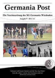 Die Vereinszeitung der SG Germania Wiesbaden