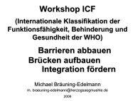 Workshop ICF Barrieren abbauen Brücken aufbauen Integration ...