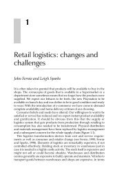 Retail logistics: changes and challenges - SCLG