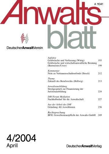 (193-256) (2,0 MB) - Anwaltsblatt - Deutscher Anwaltverein
