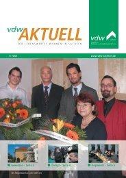 ein gesundes und erfolg- reiches neues jahr 2008 - vdw Sachsen