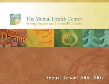 2006-07 Annual Report (PDF) - Mental Health Partners