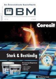 2020-01 OEBM Der Österreichische Baustoffmarkt - Stark & Beständig - Ceresit