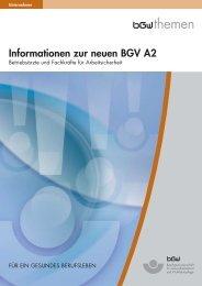 Informationen zur neuen BGV A2 - Dachverband Berliner Kinder