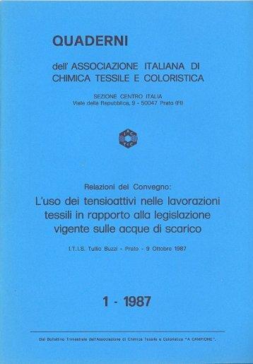 QUADERNI NR. 1 - 1987