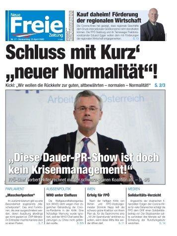 """Schluss mit Kurz' """"neuer Normalität""""!"""