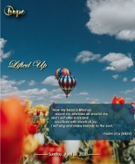 April 26, 2020 Bulletin Third Sunday of Easter