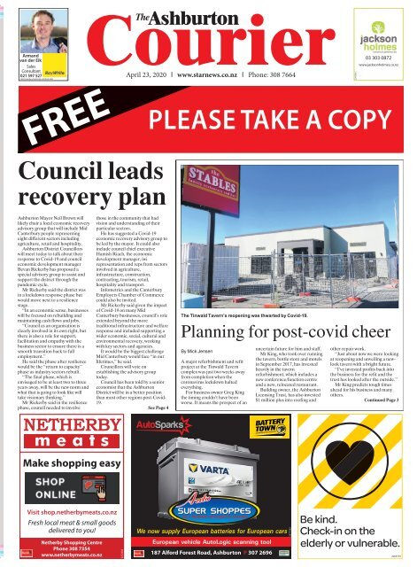 Ashburton Courier: April 23, 2020