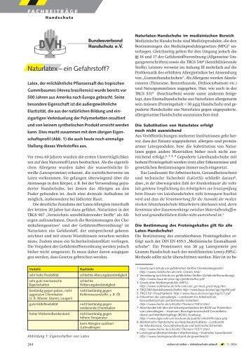 Naturlatex – ein Gefahrstoff? - Bundesverband Handschutz eV