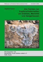 Die Flechten der Kupferschieferhalden um Eisleben, Mansfeld und ...