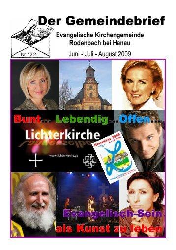 Nr. 122 - Evangelischen Kirchengemeinde Rodenbach