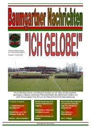 Baumgartner Nachrichten Frühling 2008 - Gemeinde Baumgarten