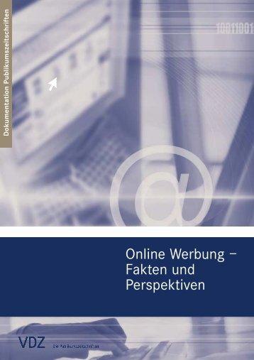 Online Werbung – Fakten und Perspektiven - VDZ