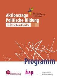 Programm - Bundeszentrale für politische Bildung