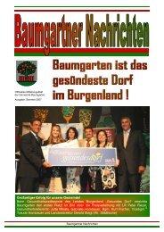 Gesundes Dorf - Gemeinde Baumgarten