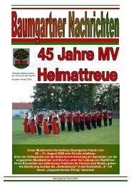 Baumgartner Nachrichten Herbst 2008 - Gemeinde Baumgarten