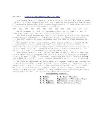 Volume 27 - Tomato Genetics Cooperative