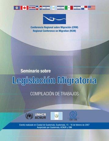 Compilación de Trabajos del Seminario sobre Legislación Migratoria