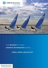 Online, Hotline, personal Line - DMB Rechtsschutz-Versicherung AG