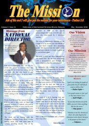 Our Vision Our Mission - International Christian Mission