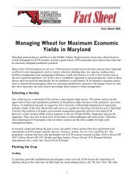Managing Wheat for Maximum Economic Yields in Maryland