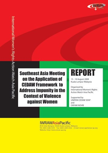 REPORT - International Women's Rights Action Watch Asia Pacific