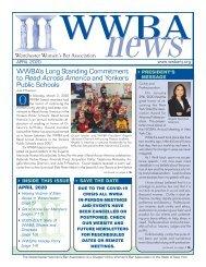 WWBA April 2020 Newsletter
