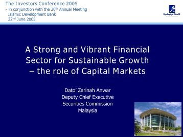 the role of Capital Markets - Securities Commission Malaysia