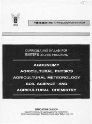 agronomy agricultural physics agricultural meteorology soil science