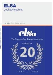 Jubiläumsschrift - ELSA Germany