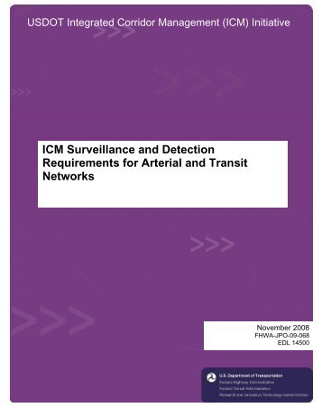 ICM Surveillance and Detection Requirements for Arterial and ...