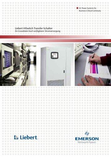 Liebert HiSwitch Transfer-Schalter - Emerson Network Power