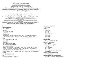 Kumuliertes Sachverzeichnis der LEIBNIZ-Akademieausgabe ...
