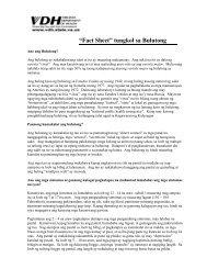 """""""Fact Sheet"""" tungkol sa Bulutong"""