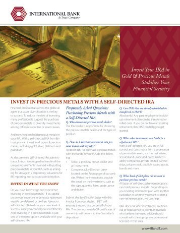 Invest Your IRA In Gold & Precious Metals - McAlvany Financial Group