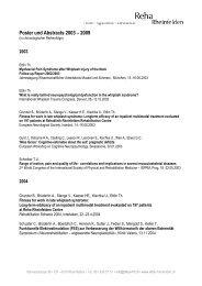 Poster und Abstracts (PDF) - bei der Reha Rheinfelden