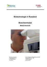 Biotechnologie in Russland Branchenmodul Medizintechnik