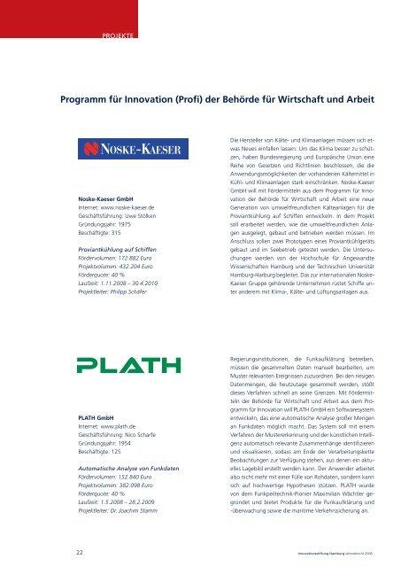 jahresbericht 2008 - Innovationsstiftung Hamburg