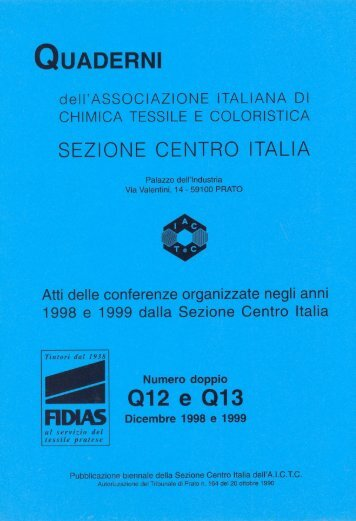 QUADERNI NR. 12 e 13 - 1998/99