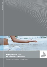 Highly Purified Salts for Health and Wellbeing - K+S KALI GmbH