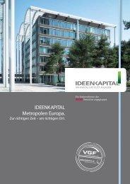 IDEENKAPITAL Metropolen Europa. - Bonnfinanz AG